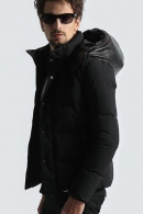 wjk hooded down jacket black