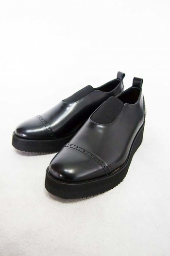 【ポイント10倍】Sise LEATHER SHOES BLACK