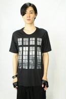【ポイント5倍】nude:mm PRINT T 'WINDOWS' CHARCOAL
