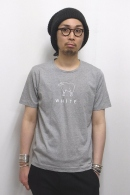 【65%OFF】08sircus プリントカットソー TOP GRAY×WHITE