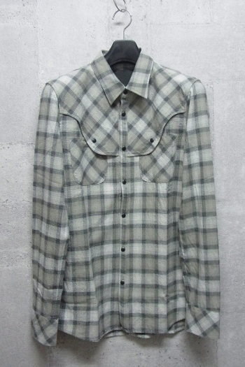 【65%OFF】OURET ウエスタンシャツ LIGHT GRAY CHECK