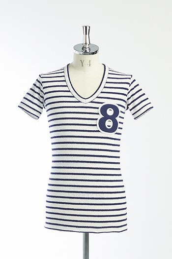 【SALE+ポイント10倍】AKM PILE 8 CUT WHITE / NAVY