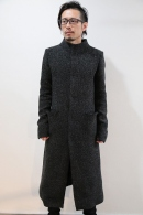 【予約】lien 16AW orver pocket hi coat BLACK