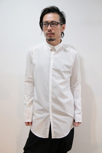 【予約】lien 16AW anatomy shirt WHITE