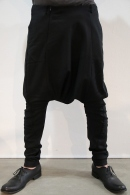 【予約】lien 16AW drop sarouel BLACK