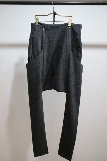【予約】lien 16AW 6P drop sarouel GRAY