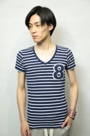 【SALE+ポイント10倍】AKM PILE 8 CUT BLUE / WHITE