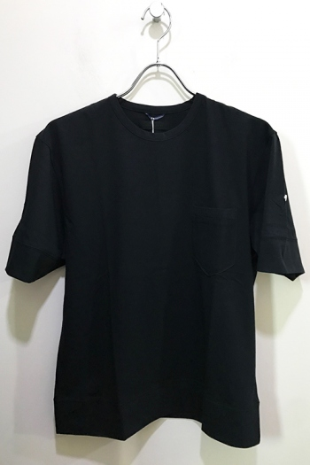 junhashimoto 17SS WIDE ROLL UP T BLACK