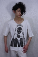 nude:mm AVEプリントTシャツ OFF WHITE