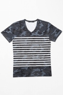 AKM CAMO BORDER V-NECK BLACK CAMO