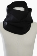 PATRICK STEPHAN Rib scarf 'double' BLACK