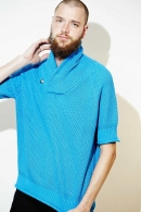 9200  loose shawl pullover BLUE