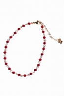 wjk 16SS glassanklet red x gold