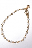 【30%OFF】wjk ガラスブレスレット CLEAR×GOLD