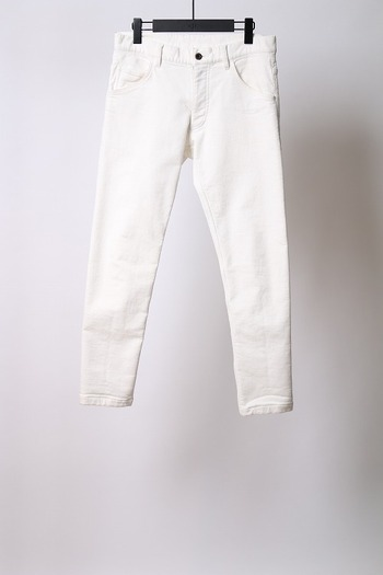 wjk tight knit-denim OW white