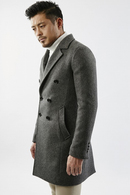 【SALE+ポイント20倍】AKM W CHESTER COAT C.GREY