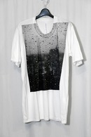 nude:mm 17SS プリントTシャツ'DROPS OF WINDOW' WHITE