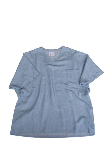 Sise 17SS DENIM BIG POCKET T-SHIRTS BL