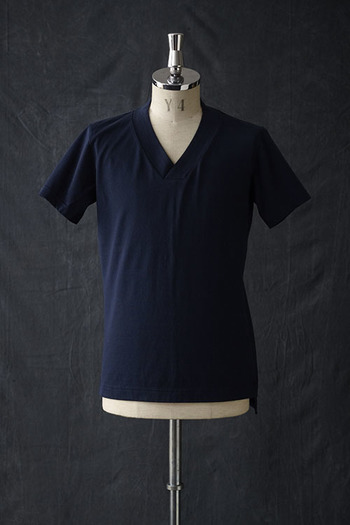 【10%OFF+ポイント10倍】VADEL 17SS thick V-neck NAVY