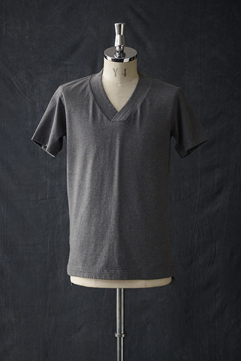 【20%OFF+ポイント10倍】VADEL thick V-neck GRAY
