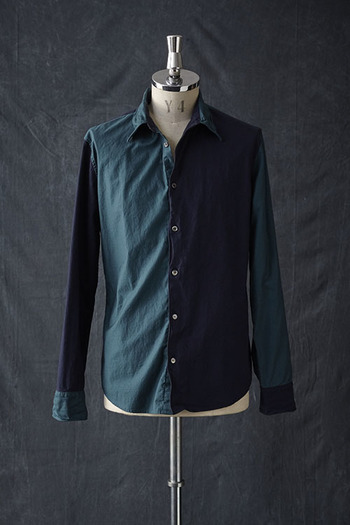 【10%OFF+ポイント10倍】VADEL 17SS wired shirts NAVY