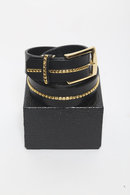 GalaabenD 16WT Belt BLACK×GOLD