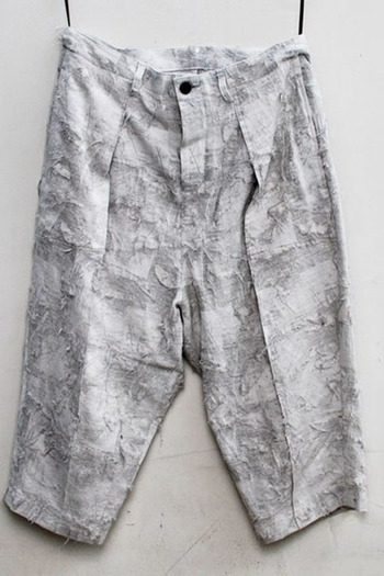 【予約】OURET 17SS CENTER SEAM PANTS DARK WHITE
