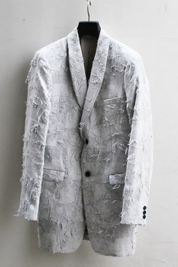 【予約】OURET 17SS SHAWL COLLAR LONG JACKET DARK WHITE