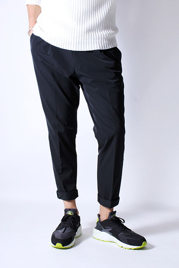junhashimoto 17SS LIGHT TUCK PANTS BLACK