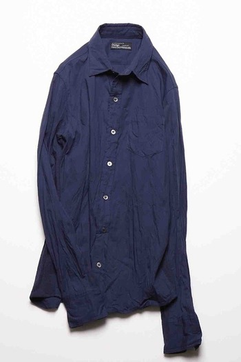 ATM7 WASHABLE SIDE RIB SHIRT NAVY