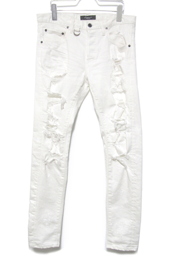 OVERDESIGN 17SS NEW SKINNY HARD RIPPED WHITE