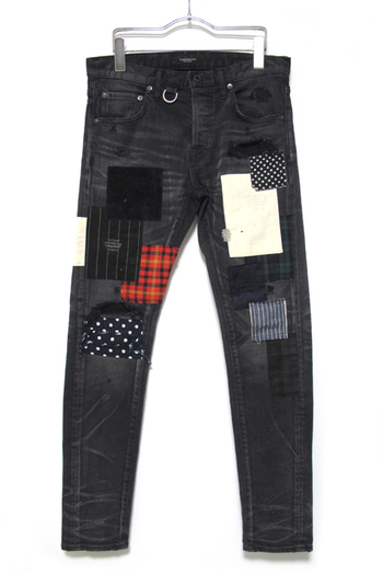 OVERDESIGN 17SS NEW SKINNY PATCHWORK VIN BLACK