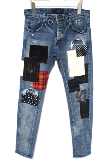 OVERDESIGN 17SS NEW SKINNY PATCHWORK COAL BLUE