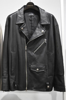 【予約】DBSS 17SS Leather loose biker jacket BLACK