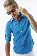 AKM 1/2ROLL-UP SHIRTS TURQUOISE