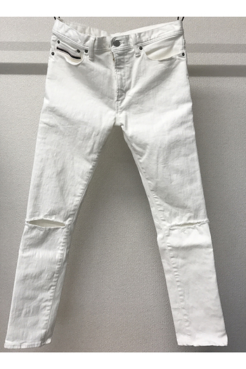 【予約】RESOUND CLOTHING 17SM LOAD DENIM WHITECLASH