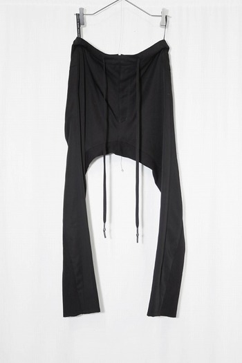 nude:mm 17AW レーヨン綿ツイル PANTS BLACK