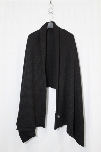 nude:mm 17AW ニット風ジャカード STOLE BLACK