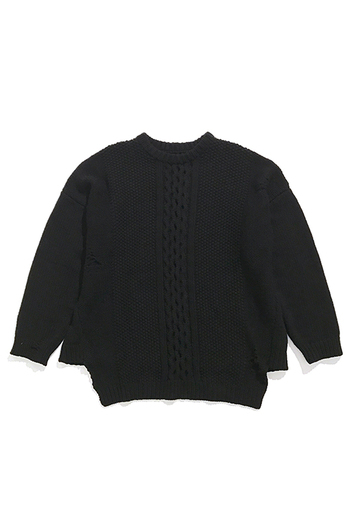 Sise 17AW BIG DROP KNIT BLACK