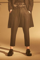 Sise POCKET DOWN PANTS BLACK
