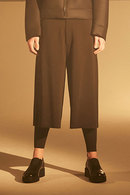Sise 17AW CROPPED WIDE PANTS BLACK