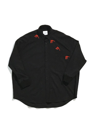 Sise 17AW EMB.BIRD SHIRT BLACK