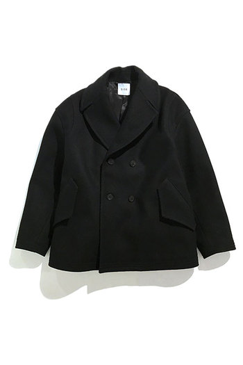 【20%OFF+ポイント10倍】Sise 17AW P-COAT BLACK
