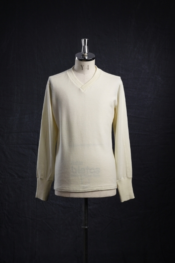 【予約】VADEL 17AW LAYERED V-NECK L/S WHITE