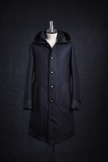 【予約】VADEL 17AW COMBAT OVER COAT NAVY