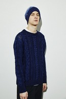 【予約】SandBlaster 17AW Crew neck cable po ONE WASH
