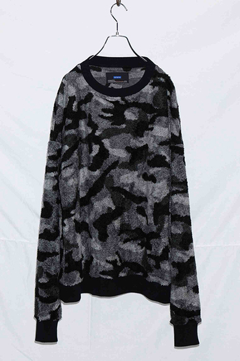 attack the mind 7 17AW ボアビッグトレーナー BK CAMO