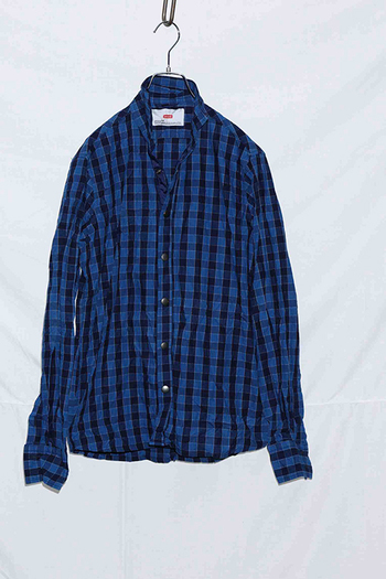 【予約】ATM7 17AW Long sleeve shirt NAVY/BLUE