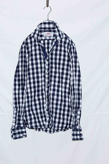 【予約】ATM7 17AW Long sleeve shirt BLACK/WHITE