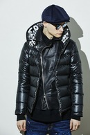 【予約】ATM7 17AW Graffiti Full Zip Food Down BLACK